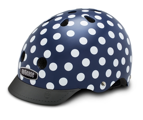 Casque street nutty navy dots