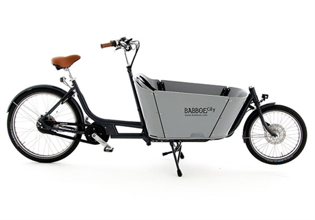 Biporteur E-City Mountain Caisse Grise