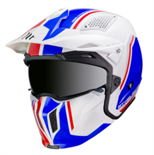 CASQUE STREETFIGHTER BLEU-BLANC BRILLANT