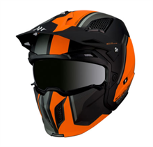 CASQUE STREETFIGHTER ORANGE-NOIR MAT TS