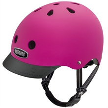 Casque supersolid street fuchia