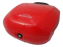 TOP CASE POUR SCOOTER SUPER SOCO CUX ROUGE